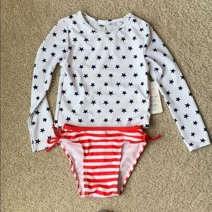 Brand NWT toddler girls two piece swimsuit